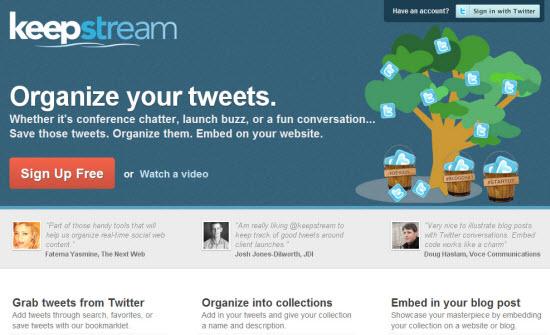 keep stream twitter tool