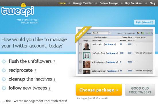 tweepi twitter tools