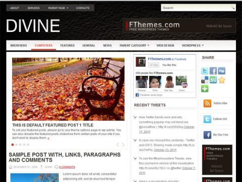 Divine-template-wordpress-gratis
